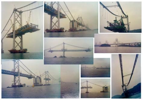 1986年 建設中の瀬戸大橋