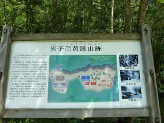 米子硫黄鉱山の説明板