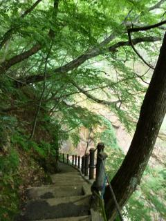 雷滝への遊歩道