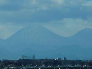 ズームで撮影した男体山