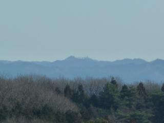 ふれあいの丘からの尺丈山