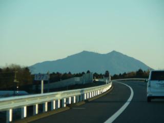 北関・東行き 真岡付近からの筑波山