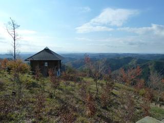 山頂の休憩小屋