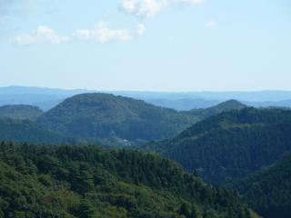 やすらぎの里 展望台からの高舘山