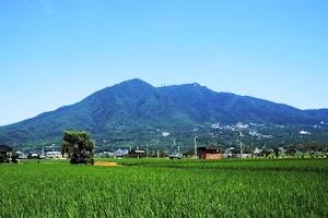 私の住む場所から見た形に近い筑波山