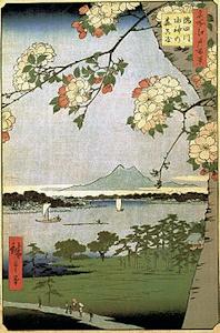 歌川広重の名所江戸百景に描かれた筑波山