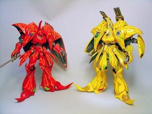 ブーレイ(赤はラルゴ機、黄はギエロ機)