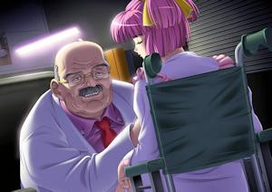 桃子を診察?する院長