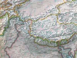 インド北部地図