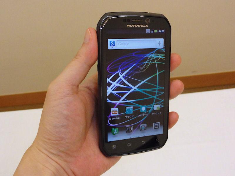 モトローラ AU向けWiMAX対応スマートフォン PHOTON ISW11M発表