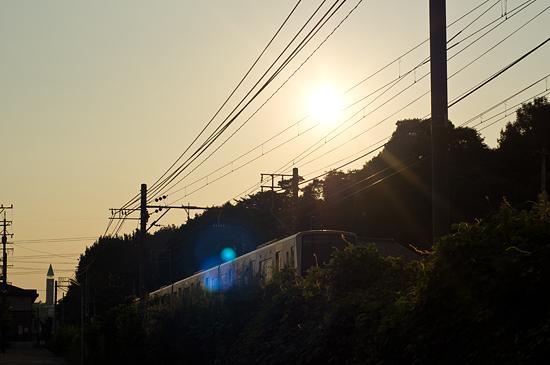瀬戸電夕景-13