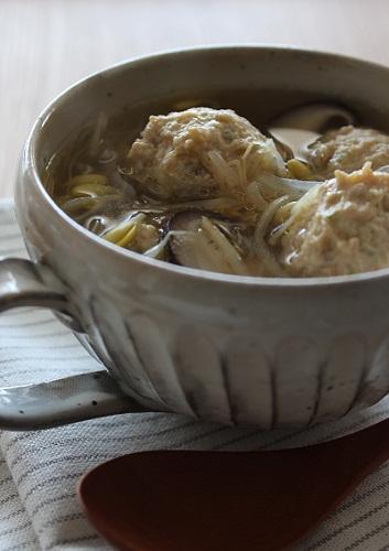 豆もやしと肉団子のスープ