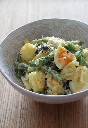 卵といんげん豆のポテトサラダ