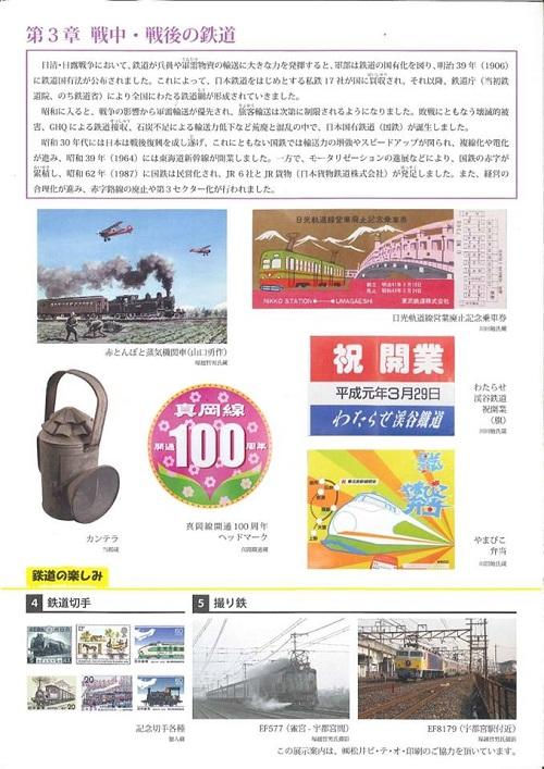 栃木県立博物館「人文系テーマ展 栃木の鉄道」へ!④