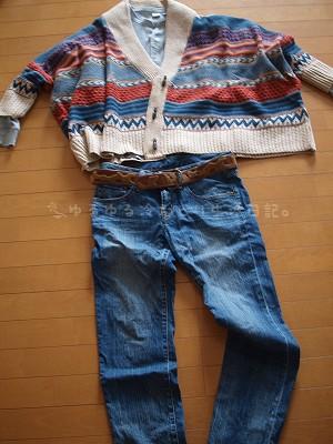 ある日の冷えとりファッション20120116